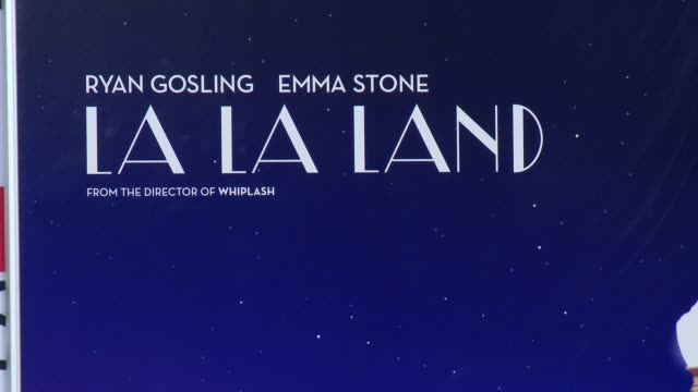 """la la land"""" screening - afi fest 2016 at tcl chinese theatre on november 15, 2016 in hollywood, california. - teatro cinese tcl video stock e b–roll"""