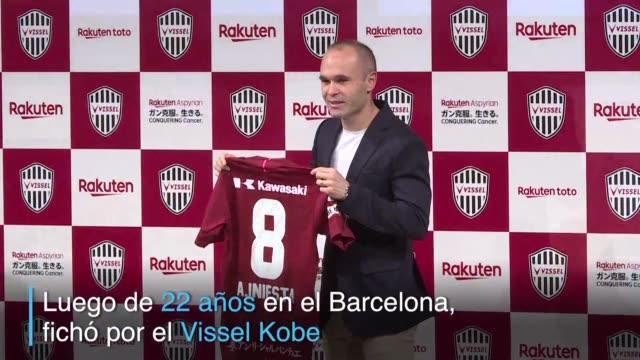 La leyenda del Barcelona Andres Iniesta cambio de aires luego de 22 anos y ficho por el Vissel Kobe de Japon