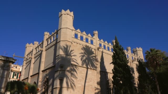 la llotja and passeig sagrera, palma de mallorca, mallorca (majorca), balearic islands, spain, mediterranean, europe - balearic islands stock videos and b-roll footage
