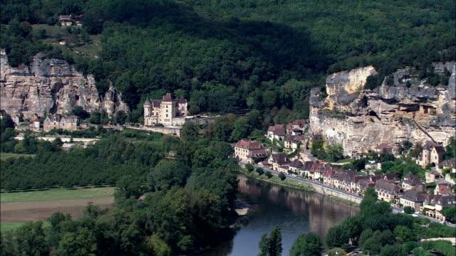 la malartrie - aerial view - aquitaine, dordogne, arrondissement de bergerac, france - aquitaine stock videos and b-roll footage
