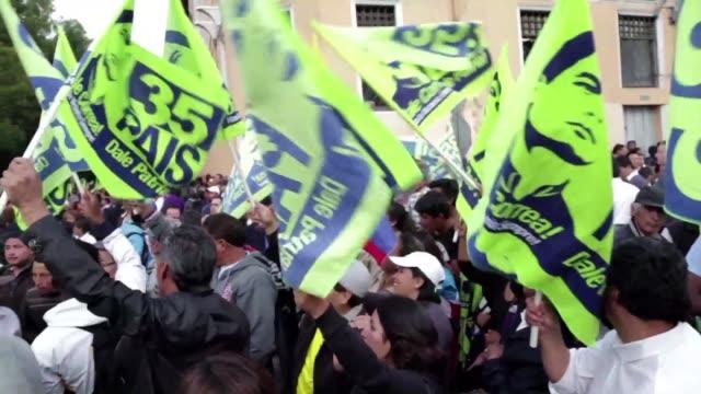 la mayoria oficialista del congreso de ecuador avalo el jueves la reeleccion presidencial indefinida a partir de las elecciones de 2021 al aprobar un... - congreso stock videos and b-roll footage