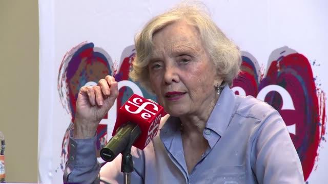 la novelista mexicana de origen frances elena poniatowska dijo que recibir el premio cervantes es un reconocimiento muy importante para las mujeres... - origins stock videos & royalty-free footage