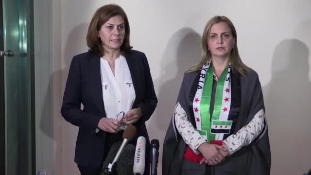 la oposicion siria decidio este viernes tras cuatro dias de intensos debates acudir a ginebra para asistir a las negociaciones de paz bajo la egida... - naciones unidas stock videos & royalty-free footage