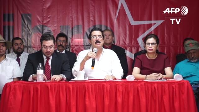 la oposicion y el gobierno de honduras chocaron el martes en su intento de seguir los esfuerzos para establecer un dialogo con mediacion de la onu... - politica stock videos & royalty-free footage