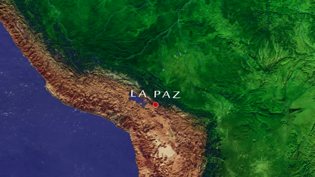 vídeos de stock e filmes b-roll de la paz 4k zoom in - la paz bolívia