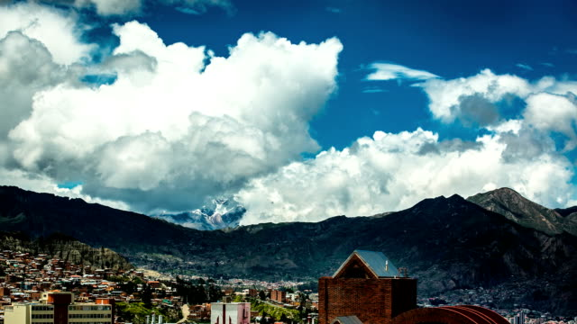 la paz mountain time lapse - bolivia stock videos & royalty-free footage