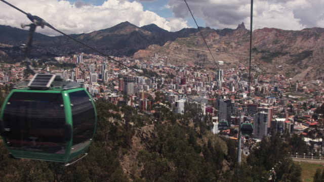 la paz - teleferico - bolivia stock videos & royalty-free footage