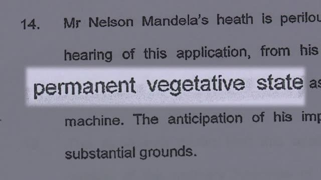 vídeos de stock, filmes e b-roll de la presidencia sudafricana desmintio el jueves por la noche que el expresidente nelson mandela se encuentre en estado vegetativo voiced desmienten... - processo vegetal
