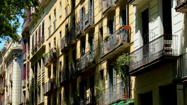 la rambla appartments, barcelona, spain - balcony stock videos & royalty-free footage