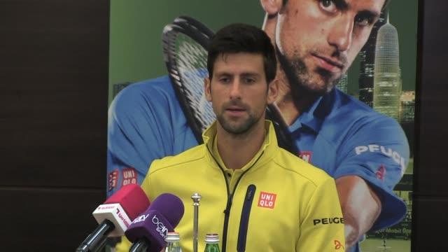 La raqueta numero uno del mundo Novak Djokovic se prepara para el Abierto de tenis de Catar y ya piensa en los principales desafios de este ano