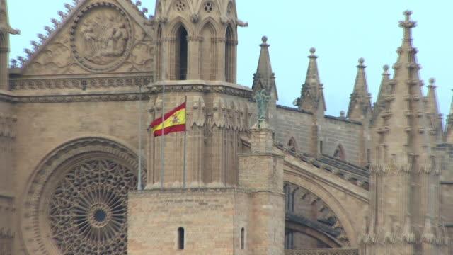 cu, zo, ms, la seu cathedral, spain, balearic islands, mallorca, palma - palma stock videos & royalty-free footage