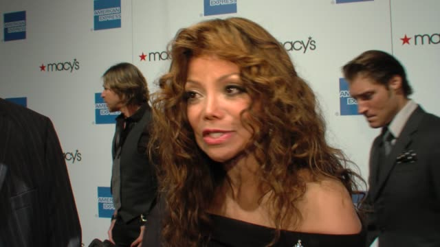 La Toya Jackson and Craig Thompson on Michael Jackson's support for HIV/AIDS causes at the 27th Annual Macy's Passport Fashion Show Benefit at Santa...