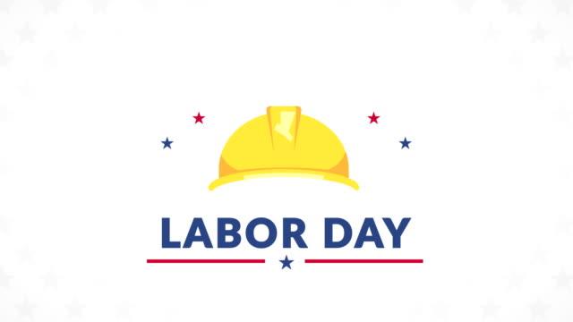 vídeos de stock e filmes b-roll de labor day celebration banner - dia do trabalhador