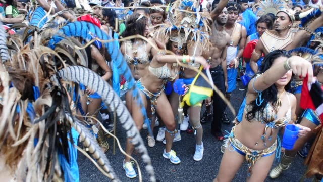 vídeos y material grabado en eventos de stock de labor day parade, eastern parkway, crown heights, brooklyn, new york city, usa. also known as the west indian american day carnival. labor day... - 2013