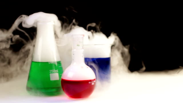 Forschungsutensilien mit dry ice