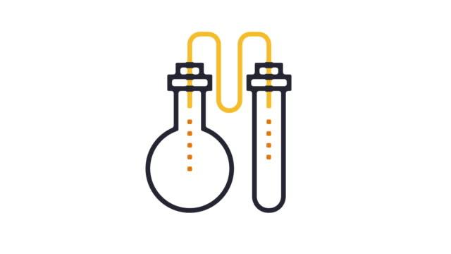laboratory icon animation - digital animation stock videos & royalty-free footage