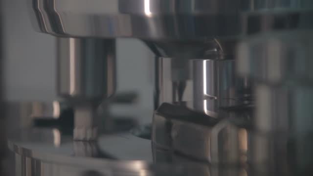 Laboratory pill maker close up