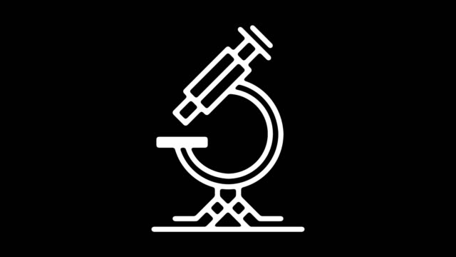 laboratory research line icon animation with alpha - laboratory flask stock videos & royalty-free footage