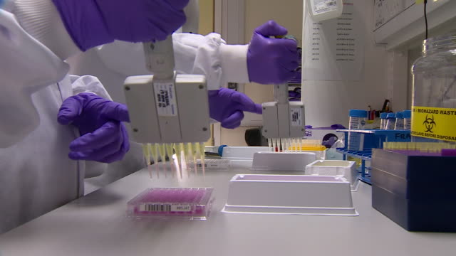 laboratory technicians moving samples - part of a series stock videos & royalty-free footage