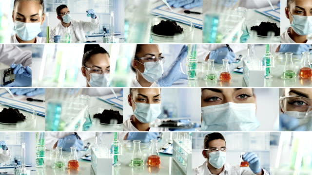 laboratory. video wall - video wall stock videos & royalty-free footage