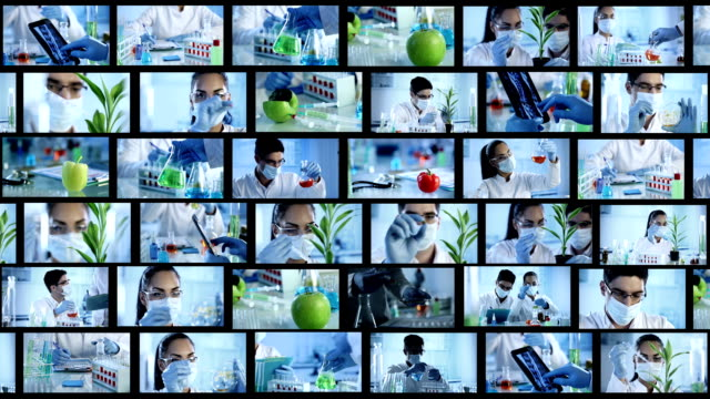 laboratory. video wall - pollution mask stock videos and b-roll footage