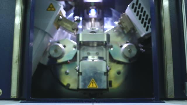 Laboratory worker preparing laboratory equipment