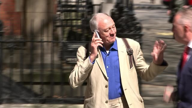 stockvideo's en b-roll-footage met labour activist marc wadsworth attends disciplinary hearing over antisemitism claims lib / 2842016 ken livingstone along on mobile phone and then... - ken livingstone