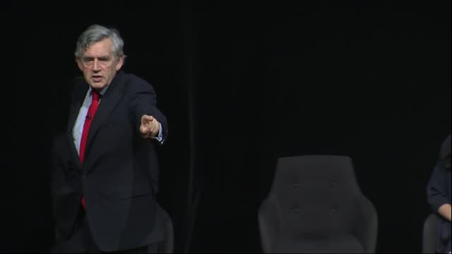 gordon brown says labour must adopt ihra definition uk london former prime minister gordon brown speech to jewish labour movement conference england... - ゴードン ブラウン点の映像素材/bロール