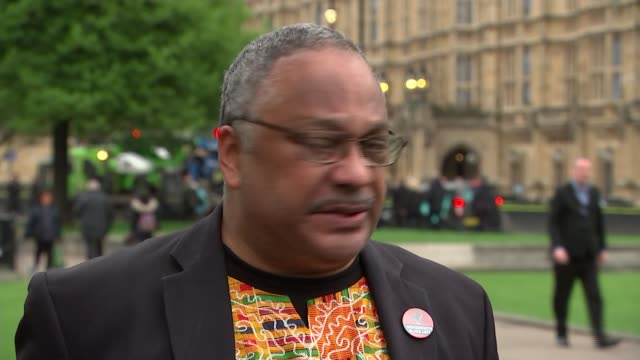 Labour activist Marc Wadsworth expelled from party ENGLAND London Westminster EXT Marc Wadsworth speaking to reporters on College Green SOT the...