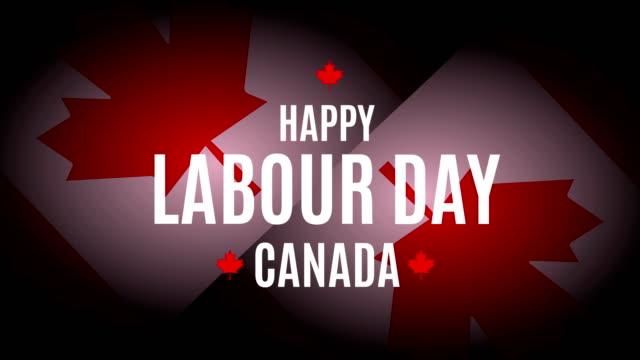 vídeos de stock e filmes b-roll de labour day canada. 4k animation - dia do trabalhador