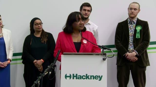 Labour Diane Abbott declaration in Hackney North ENGLAND London Hackney INT Candidates on platform for Hackney North and Stoke Newington declaration...