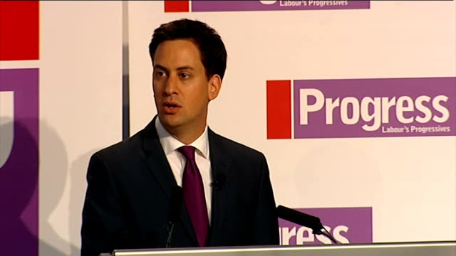 ed miliband speech to 'progress' annual conference england london congress house progress annual conference int ed miliband applauded by progress... - politics and government stock videos & royalty-free footage
