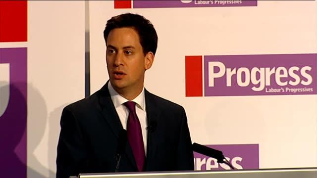 Ed Miliband speech to 'Progress' annual conference ENGLAND London Congress House Progress annual conference INT Ed Miliband applauded by Progress...