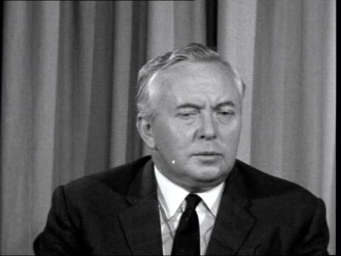 harold wilson interview ***also england london labour party headquarters q just what would the parliamentary commissioner do you know under any... - 10 11 years stock videos & royalty-free footage