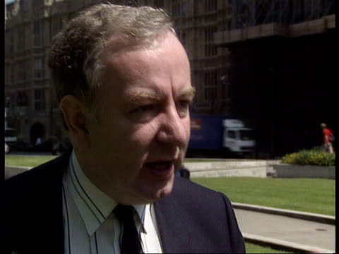stockvideo's en b-roll-footage met labour electorial system changes england ms report handed over by prof raymond plant london cms raymond plant westminster ms plant and three others... - roy hattersley