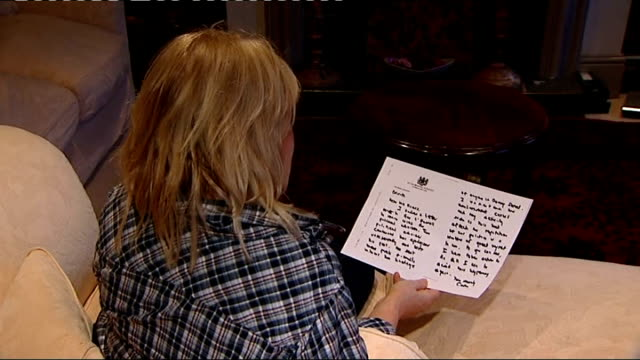 gordon brown sends letters of regret england int nadine dorries mp reading letter sent by brown close up insignia on letterhead nadine dorries mp... - insignia stock videos and b-roll footage