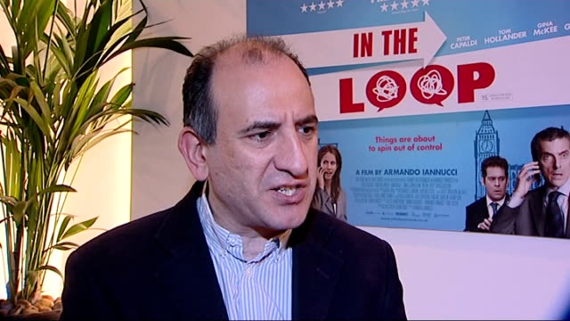 vídeos y material grabado en eventos de stock de labour 'email smear' scandal david cameron calls for change of culture at no10 england london int armando iannucci interview sot - armando iannucci