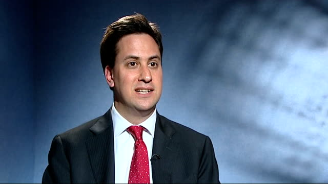 Labour 'email smear' scandal Ed Miliband interview ENGLAND London INT Ed Miliband MP interview SOT It is right the individual who wrote the emails...