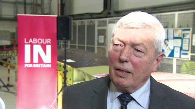 labour in' campaigner alan johnson saying that the eu is one of the reasons we are a big successful economy - continuity stock videos & royalty-free footage