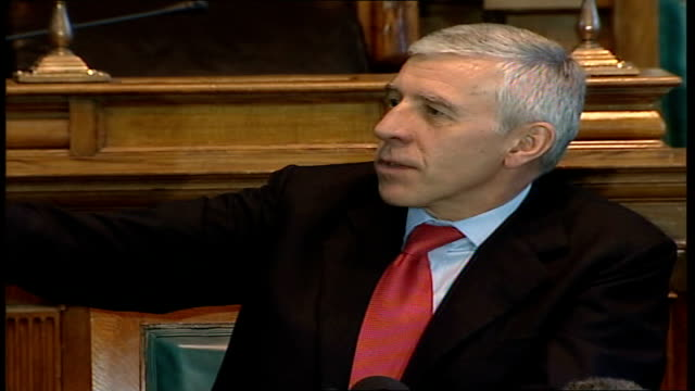 jack straw holds first constituency surgery since 'veil' comments straw speaking straw answers questions sot what i said was written very carefully /... - jack straw stock videos and b-roll footage