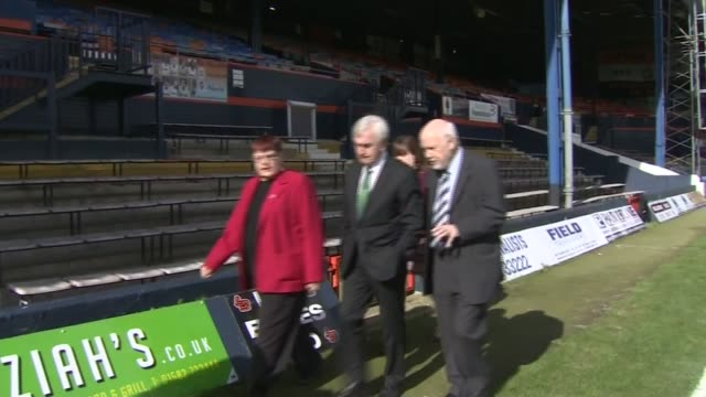 Jeremy Corbyn and John McDonnell at Luton Town Football Club ENGLAND Hertfordshire Luton Luton Town Football Club EXT Jeremy Corbyn MP and John...