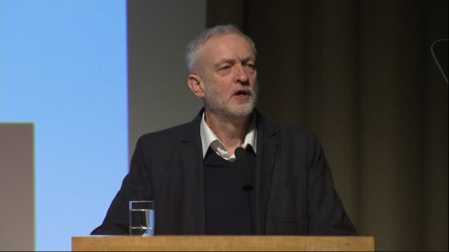 jeremy corbyn speech to fabian society unveiling new measures ahead of local elections; england: london: the fabian society: ext various shots of... - human stage stock videos & royalty-free footage