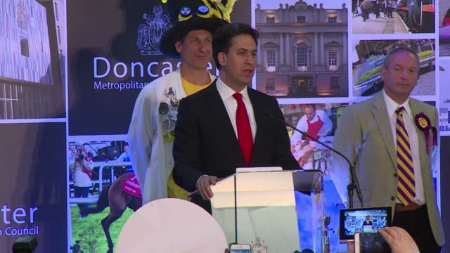 labour leader ed miliband admitted friday his party had a very disappointing and difficult night in britains election in which exit polls indicated a... - ed miliband stock-videos und b-roll-filmmaterial