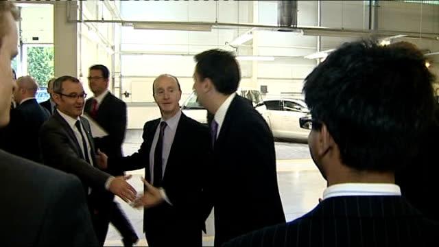 labour leader ed miliband visits jaguar land rover car factory; england: warwickshire: gaydon: jaguar land rover: int general views land rover cars... - alternative fuel vehicle stock videos & royalty-free footage