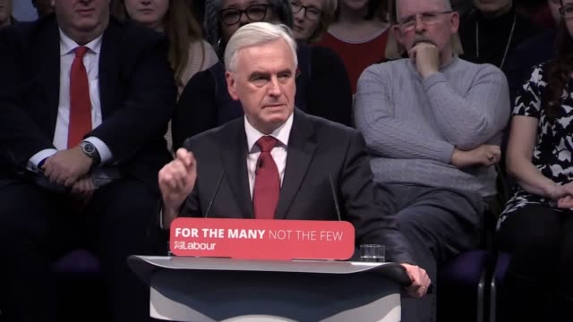Labour leader Jeremy Corbyn and Shadow Chancellor John McDonnell attack the Tories at a postbudget rally in the West Midlands Includes Arsenal gag...