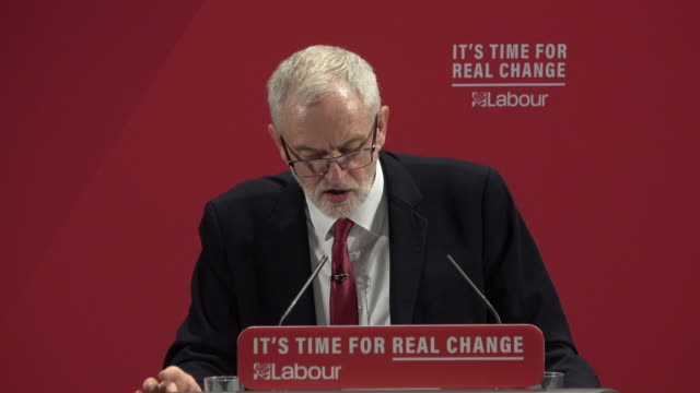 labour leader jeremy corbyn delivers the party manifesto on race and faith to an audience in tottenham. he said a racist attack on one is an attack... - jeremy corbyn stock videos & royalty-free footage