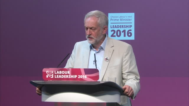 labour leader jeremy corbyn saying it would be a good thing if labour mp's got behind their leader and worked with them in his first leadership... - owen smith politician stock videos & royalty-free footage