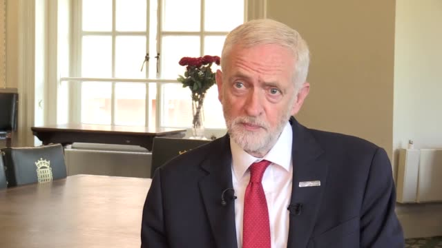 labour leader jeremy corbyn says that new prime minister boris johnson will be unable to honour his commitment to deliver brexit by the end of... - jeremy corbyn stock videos and b-roll footage