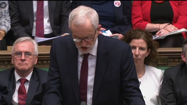 """stockvideo's en b-roll-footage met labour leader jeremy corbyn warned that fighting the cornavirus will be """"much tougher because of the last 10 years of deeply damaging and... - harder"""