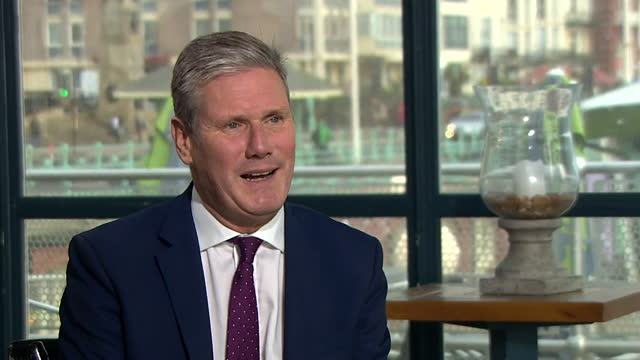 """labour leader keir starmer saying he is """"so looking forward"""" to delivering his speech at the party conference - excitement stock videos & royalty-free footage"""